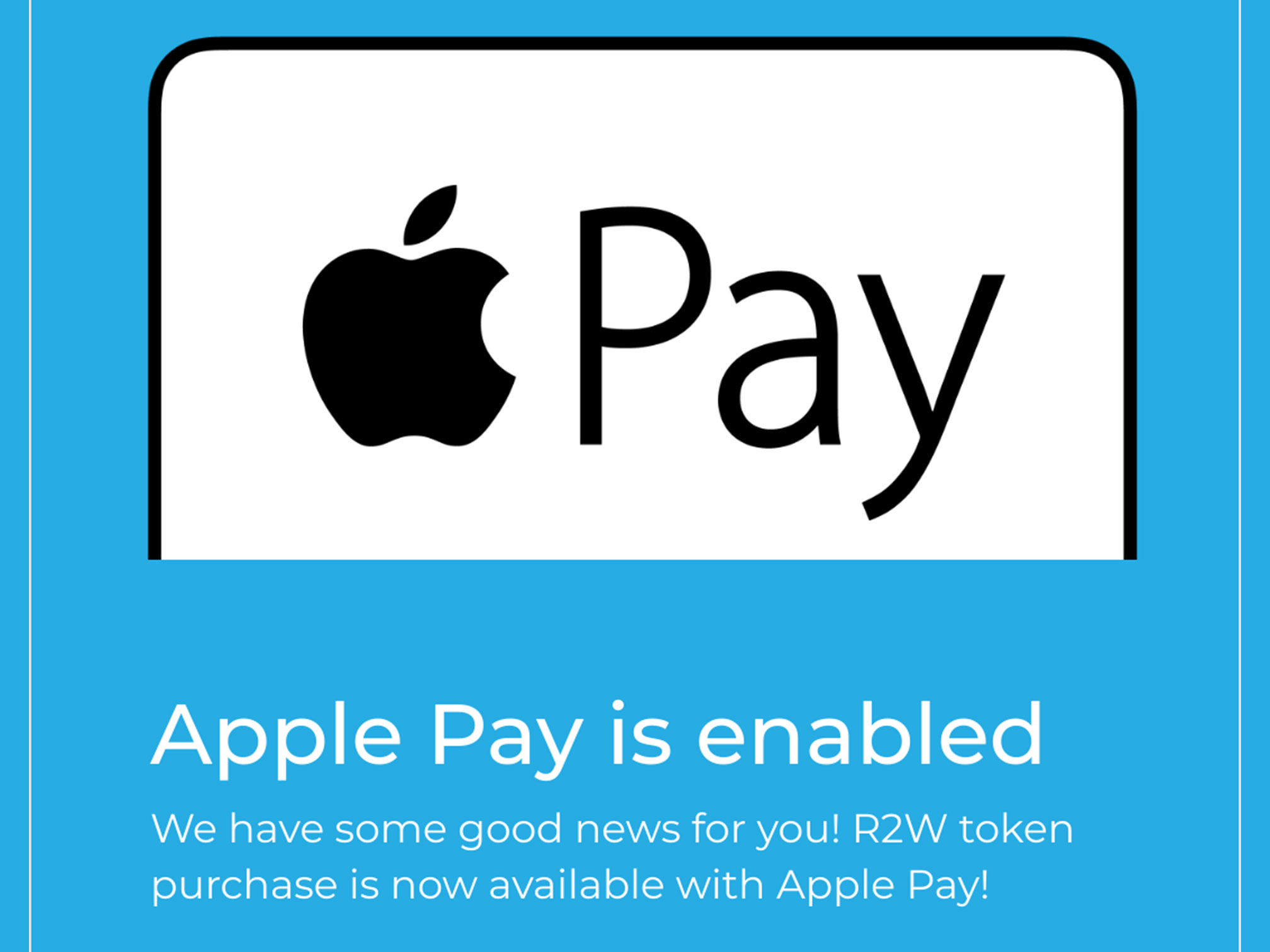 Apple Pay is enabled